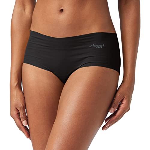 Sloggi Damen Zero Cotton Short Panties, Schwarz (Black 0004), 48 (Herstellergröße: XL)
