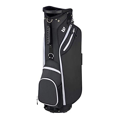 "Wilson ""W"" Cart Golf Bag, Black"