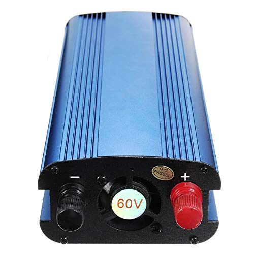 N\A Coche inversor de energía Pantalla LCD Solar Power Inverter de Onda sinusoidal modificada del convertidor de energía 2200W CC 12/24 / 48V / 60V a 220V (Voltage: : 60V)