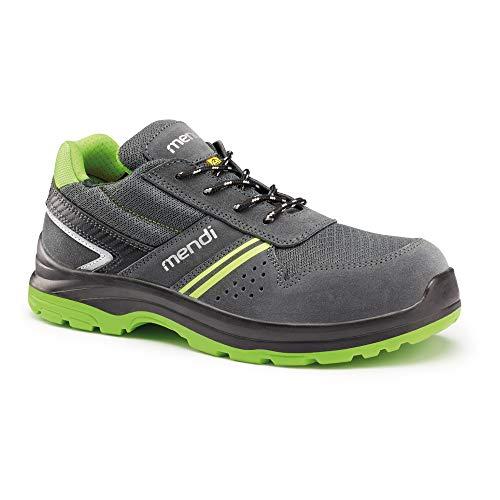 Zapatillas de Seguridad Resistencia eléctrica para Hombre y Mujer/Zapato de Trabajo Comodos con Puntera Reforzada en Fibra de Vidrio (no Acero) Calzado Laboral Antideslizantes (Numeric_42)