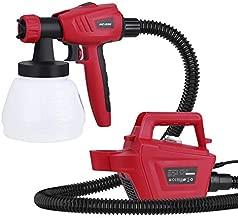 Paint Sprayer, Meterk 1300ML 800W High Power Electric Spray Gun, 1100ML/Min HVLP Spray Paint Gun, 1.8M Air Hose, 3 Nozzle Sizes&3 Spray Patterns, For Furniture, Cabinet, Fence, Chair, Car, Bike