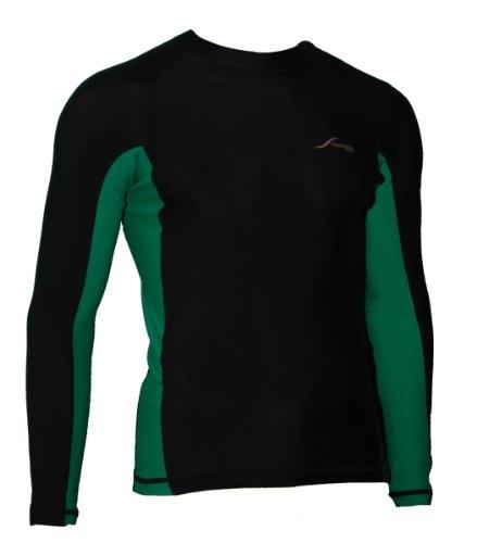 Scubatec Lycra Shirt, Langarm, schwarz-grün, 50 (M)