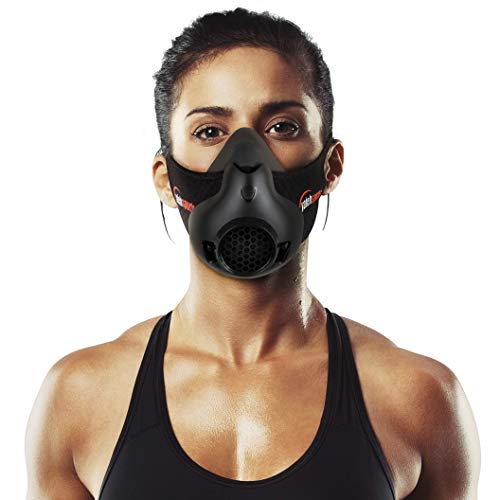Yafeh Sports Workout Mask  High Altitude Simulation For Breathing Resistance Training  Increase Your Stamina for Running Biking and HIIT Cardio Fitness Workouts  16 Breathing Levels