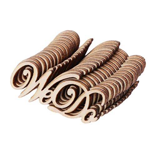 niumanery 15Pcs Wooden We Do Table Confetti Scatter Vintage Rustic Wedding Party Decor Craft Scrapbook Decorations