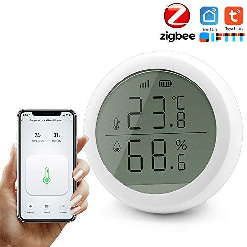 Tuya Smart ZigBee-Temperatur-Feuchtigkeitssensor mit LCD-Bildschirm Hochgenauer T & H-Sensor Arbeiten mit der Gateway Hub Home Automation-Szene