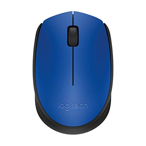 Logitech M171 Kabellose Maus, 2.4 GHz Verbindung via USB-Empfänger, Optischer Sensor, 12-Monate Akkulaufzeit, Für Links- und Rechtshänder, 3 Tasten, PC/Mac - blau