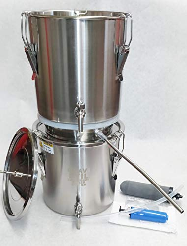 Emergency Survival Water Distiller and Gravity Filter Combination...