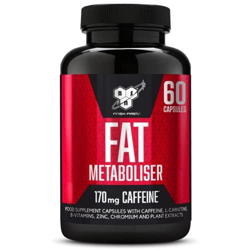 BSN Fat Metaboliser 1 x 60 Capsule - Bruciagrassi - Dimagrimento - Riduzione - Controllo del Peso - Tè Verde - Caffè Guaranà - Carnitina - Pepe Nero
