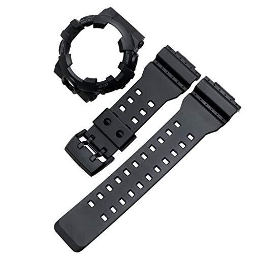 Qiulip 1Set Zachte Siliconen Horlogeband Metalen Gesp Polsband Armband Horlogekast Vervanging voor Casio G-SHOCK GA-700 Smart Horloge Accessoires