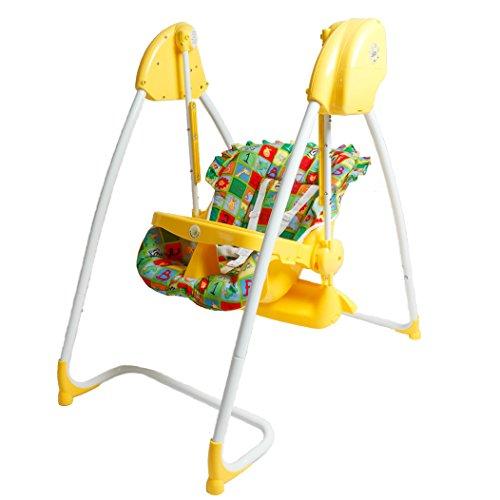 Fantastic 2in1 Highchair & Electrical Baby Swing Lemon Homey - BambinoWorld