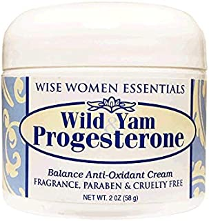 Wild Yam & Progesterone Cream Bio Identical with Chaste Tree Berry May Support Menopause NON GMO Paraben Free Wise Essentials