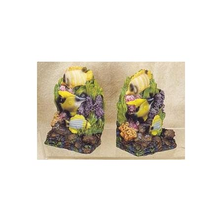 Tropical Fish Bookends Home Kitchen