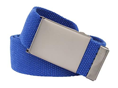 Ceinture extra forte Royal Bleu en textile 4cm large 140cm Boucle de qualité extrêmement longue XXL fabric belt