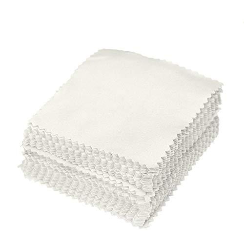 Healifty 50 unids paño de pulido para la limpieza de la joy