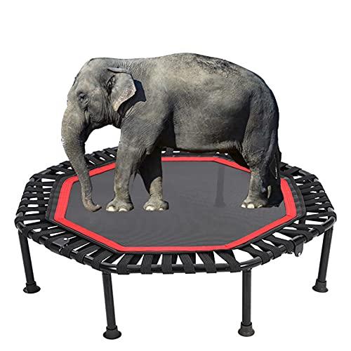 NCBH Trampolín de fitness, trampolín portátil de 40 pulgadas, mini trampolín plegable con almohadilla antideslizante, trampolín estable y silencioso para ejercicio de carga máxima de 40 libras, rojo