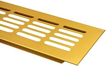 Ventilatie door middel van aluminium ventilatierooster met een breedte van 80 mm verkrijgbaar in verschillende kleuren en ...