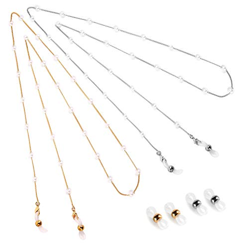 Eli-time Pearl Eyeglasses Chain for Women (Conjunto de 2)