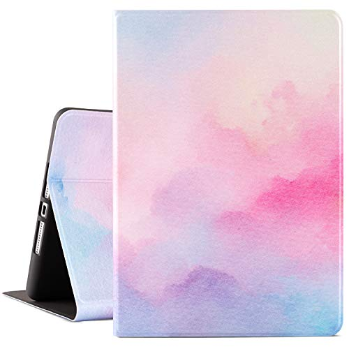 Cutebricase iPad 8th Generation Case 2020, iPad 7th Generation Case iPad 10.2 Inch 2019 Pink Protective Cover, Multi-Angle Viewing Case with Adjustable Stand Auto Wake/Sleep Function (Watercolor)
