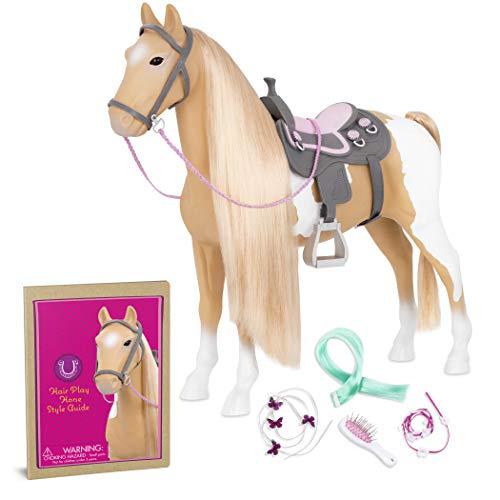 Our Generation BD38030Z Hair Play Horse Puppenzubehör, Beige/Weiß, 51 cm