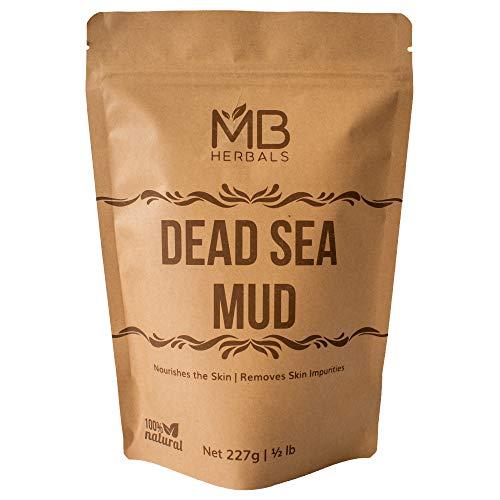 MB Herbals Dead Sea Mud 227 Gram | Half Pound | Nourishes Exfoliates Softens & Detoxify the Skin | DRY CLAY POWDER