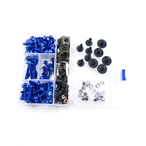 Complete Aluminum Fairing Bolt Kit Windshield Screws For Suzuki RF 900 R RF900R RF 900R RF900 R 1993-1999