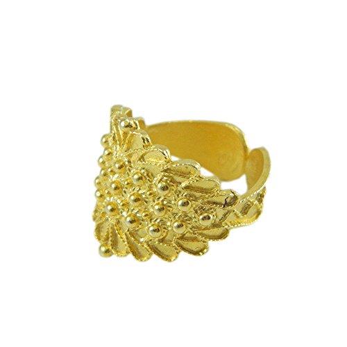 Anello fede sarda larga filigrana argento dorato GIOIELLO SARDEGNA (18)