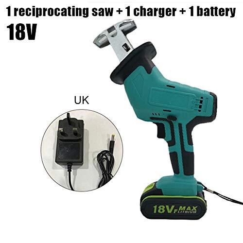 Yissma Elektrische decoupeerzaag, draadloos, 18 V, elektrische zaag met verstelbare snelheid, draagbaar, voor het snijden van hout en metaal