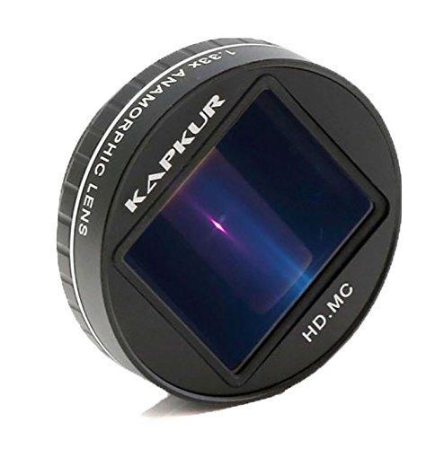 Kapkur Anamorphotische Objektiv HD 4K 1.33X für iPhone Shot von Filmic App mit der Horizontal Light Flare Telefonkasten (Anamorphic Lens with iPhone XS Max Case)