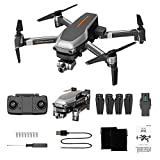 L109PRO Drones with 3840 x 2160P HD Camera for Beginners,KimBird G WiFi FPV HD ESC Camera Brushless Quadcopter,Gesture Control,Foldable WiFi Live Video Quadcopter (A)