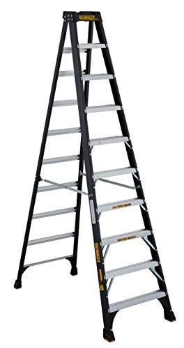 DeWalt DXL3010-10 Fiberglass Stepladder, 10-Feet, Yellow