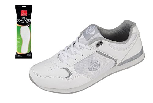 Mens Bowling Shoes Lightweight Lace Up Trainer Plus Extra...