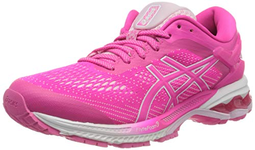 Asics Damen Gel-Kayano 26 Running Shoe, Pink Glo/Cotton Candy, 37.5 EU
