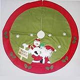 MYYXGS Falda de árbol de Navidad con diseño de Papá Noel, falda, muñeco de nieve...