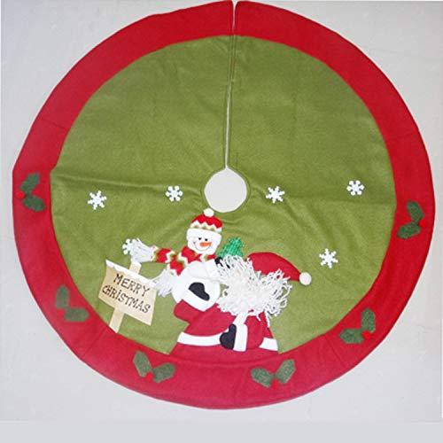 MYYXGS Weihnachtsbaum Rock Santa Dekoration Baum Rock Schneemann Weihnachtsbaum Ornament Weihnachtsbaum Rock SchüRze