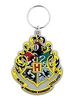 ハリー・ポッター「ホグワーツクレスト」PVC柔軟なキーリング(H Potter Hogwarts Crest keyring py)