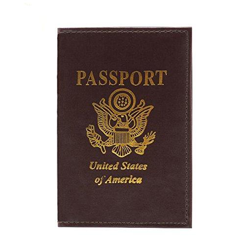 Porta-documentos multiuso para passaporte e carteira de identidade com recibos Feeling Well, Vermelho, L