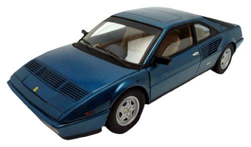 Hotwheels - P9890 - Véhicule Miniature - Elite - Mattel - Ferrari Mondial 8 3.2 - Bleu Métal - Echelle 1/18