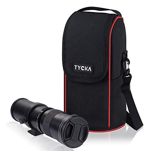 Estuche para Lentes de cámara súper telefoto Bolsa de Nailon Impermeable y a Prueba de Golpes con Zoom y Correa de Hombro Ajustable para Lentes de cámara Canon, Nikon, Sony SLR/DSLR, Negro