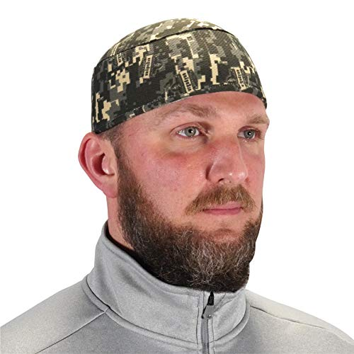 Ergodyne Chill Its 6630 Skull Cap, Lined with Terry Cloth Sweatband, Sweat Wicking, Camo, One size