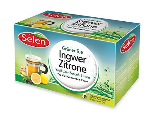 Selen Grüner Tee Ingwer-Zitrone 20 Teebeutel