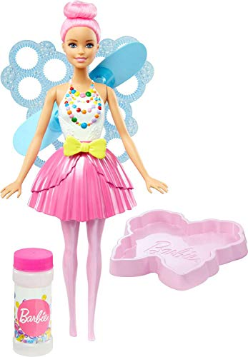 Barbie Muñeca Hada Burbujas mágicas, Color rosafarbenes haar (Mattel DVM95)