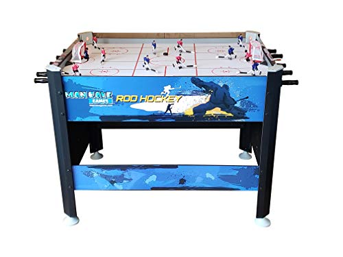 ManCave Games 45' Elite Rod Hockey Table Game. Fast paced Head-to-Head Bubble Hockey Style Action. Great Size, Durability & Easier for Kids to Play Than Dome Hockey.