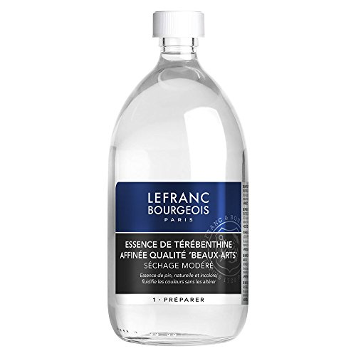 Lefranc & Bourgeois Aceite de aguarrás purificado para pinturas al óleo en botella de 1 litro