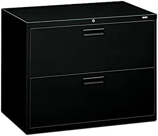 HON 582LP 500 Series 36 by 28-3/8 by 19-1/4-Inch 2-Drawer Lateral File, Black