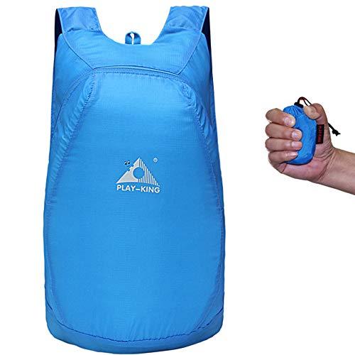 YingXue Zaino ultraleggero Zaino da escursionismo piccolo Zaino pieghevole Resistente all'acqua per esterni Zaino ripiegabile per viaggi escursionistici Attività di campeggio (Blue)