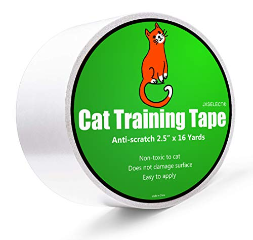 Anti-scratch Cat Tape for Furniture - Stop Cat from Scratching Couch,Corners of Chair,Door frame, Counter Top and Carpet,Clear Double Sided Tape for Cat Scratching Cat Training Tape 2.5' x 16 Yard