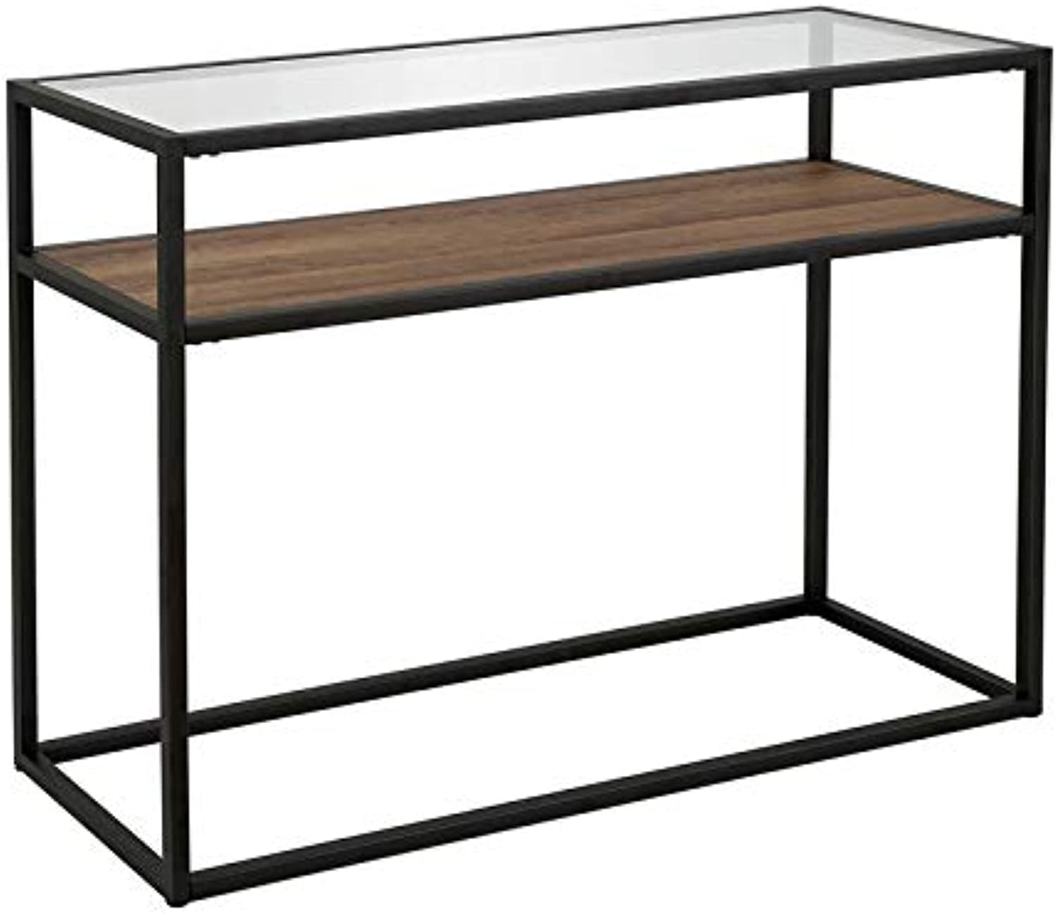 Classic Glass and Wooden Console Table