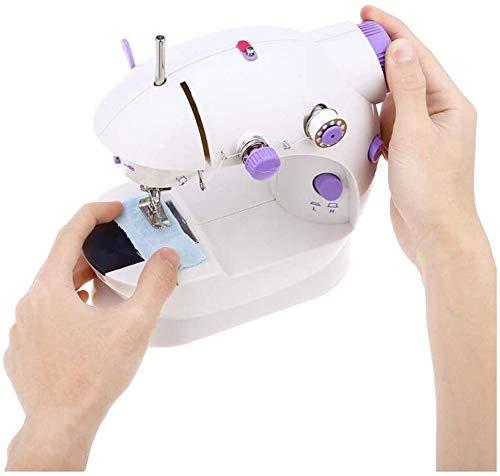FTYUNWE Mini Tragbare Nähmaschine Kleine Elektrische Handwerksbearbeitungsmaschine Gewinde Mit Fußpedal Für Haushaltskinder Anfänger
