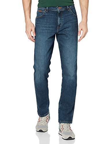 Wrangler Herren Texas Slim Jeans, Green Horn, 40W / 32L