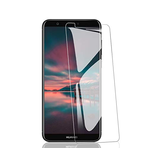 RIIMUHIR 3 Pezzi Vetro Temperato per Huawei P Smart 2018, Trasparente Glass Pellicola Protettiva Protezione Schermo, Durezza 9H, Anti graffio, Anti-Impronte, Senza Bolle, Facile da Pulire